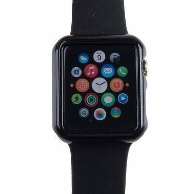 Black For Apple Watch Case Protector Cover iWatch 38mm Protective Skin Bumper