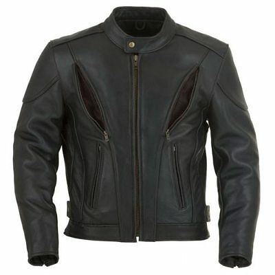 Leather Motorcycle Jacket, Leather Biker Jacket - Vents and Armour S-8XL