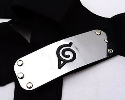 Naruto Headband Leaf Village Logo Kakashi Members Cosplay Costume Accessories OG