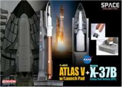 Dragon 1/400 Atlas V w/Launch Pad + X-37B Orbital Test Vehicle (