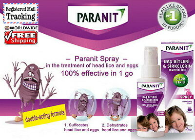 PARANIT BY PARANIX SPRAY Head Lice and Eggs Treatment, Quits Nits Scallops