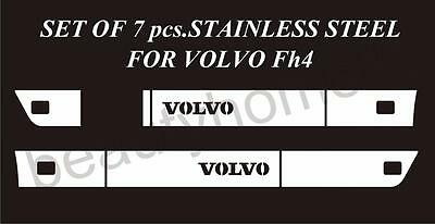 Set of Side Spoilers Decoration For VOLVO FH4 Made Of Polished Stainless Steel