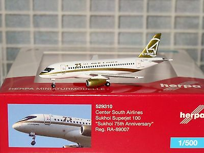 Herpa Wings Center South Airlines Sukhoi Superjet 100 RA-89007 1/500 529310 0816