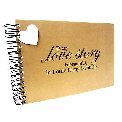 A5 A4 Love Story Scrapbook, Card Pages, Photo Album, Keepsake, Guestbook