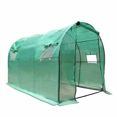 Greenhouse with Green PE Cover - 3M x 2M