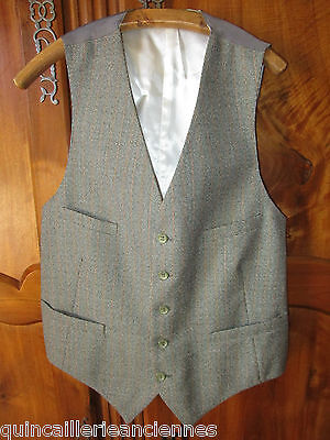 Gilet homme costume chiné vintage boutons 2 poches