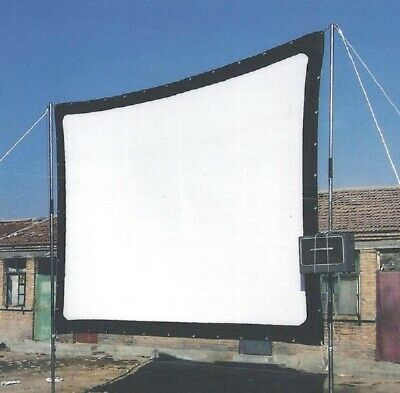 120 in. - 16:9 - Portable Canvas Fabric Projection Screen - Foldable - White wit
