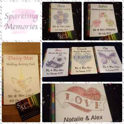Personalised A6 Childrens Wedding Activity or Colouring Pack / Book Favours