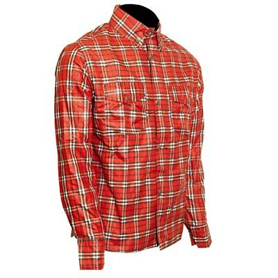 Pioneer DuPont ? Kevlar ® lined Check Riding Shirt Black and Red S - 6XL