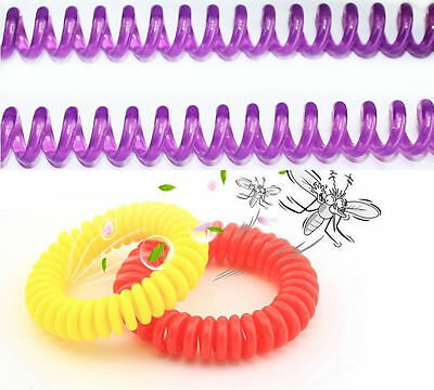 10/20PCs Anti Mosquito Insect Repellent Wrist Hair Band Bracelet Camping Outdoor