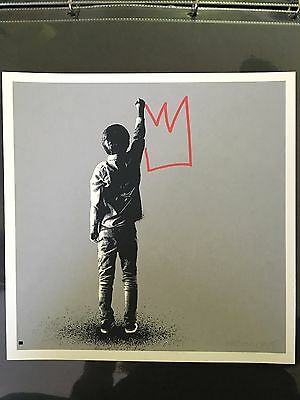 Martin Whatson Kingdom for a Crown HAND-FINISHED print (with banksy dran eelus )