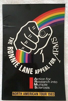 Ronnie Lane Appeal For ARMS Concert Tour Program Page Clapton Beck 83 RARE