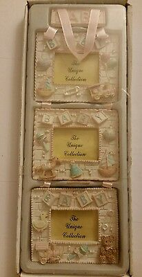 new INFANT baby GIRL NURSERY pink PHOTO PICTURE FRAME hanging SET
