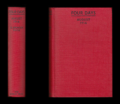 Pryse FOUR DAYS An Account of JOURNEY in FRANCE 28th-31st AUGUST 1914 Uhlans BEF