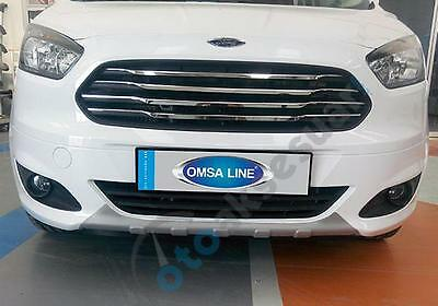 Ford TOURNEO COURIER 100% Stainles Steel Chrome Front Grill Cover 4 pcs Set