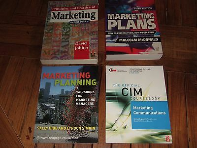 4 x MARKETING/COMMUNICATIONS Heavyweight Text Books. Excellent Cond. £100 worth