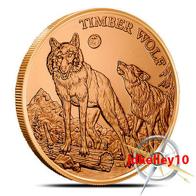 American Wildlife Series | Timber Wolf | 1 oz .999 Copper Round Collectors Coin