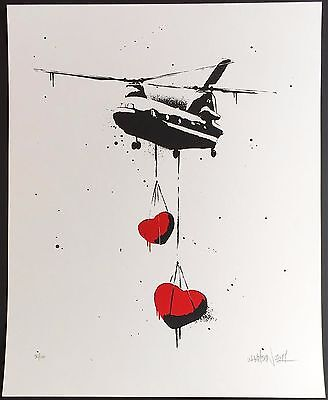 MARTIN WHATSON - 'Large Chinook Hearts' Iconic Rare Print from 2011! INVESTMENT!