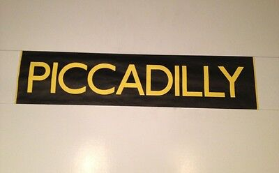 """Manchester Bus Blind (30"""") Black & Yellow - Piccadilly"""