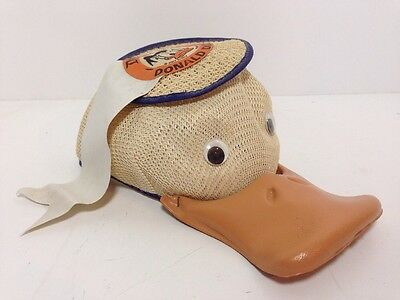 VTG Donald Duck Walt Disney World Hat Mesh Squeaky Bill Large USA Productions