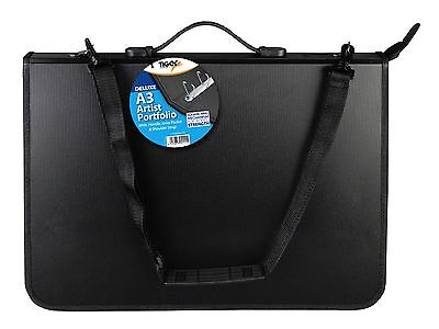 Deluxe A3 Artist Portfolio/Zip/Ring Binder/Handle/Pocket/Shoulder Strap/Student