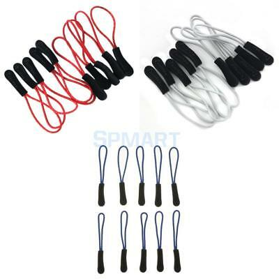 30pcs Zipper Pulls Cord Rope Ends Lock for Tents Clothes Backpack Blue,Red, Gray