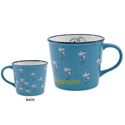 Made in Japan Snoopy Peanuts Vintage Design Mug Cup Blue US Shipping Free