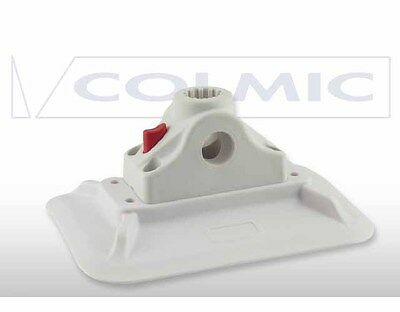 BOAT08 Porta Canna Button Fast Block + PVC Base Colmic Pesca Gommone CSP