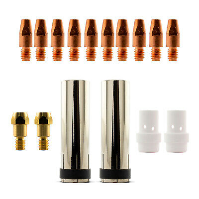 Mig MB36 16 Piece KIT- 1.2mm - Binzel Style - Shroud - Contact Tip - Nozzle SB36