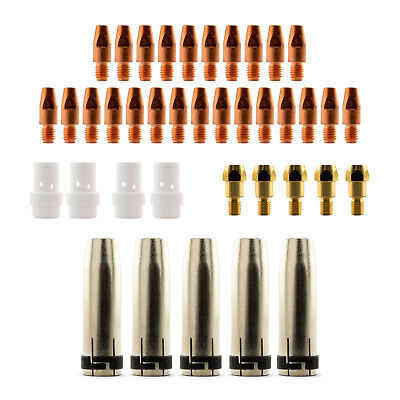 Mig MB36 Conical 39 Piece KIT- 0.9mm - Binzel Style - Shroud - Contact Tip  SB36