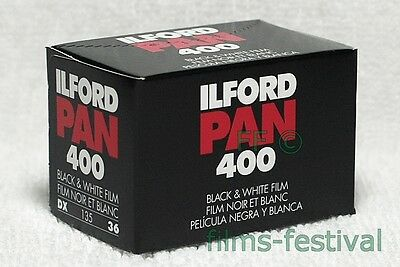 3 rolls ILFORD PAN 400 Black and White Film 35mm 36exp 135 FREESHIP