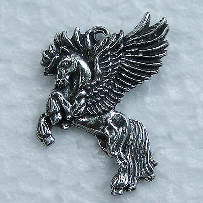 Pegasus Pewter Pendant Made in Australia 1 bail  Polished For Necklace, Charm