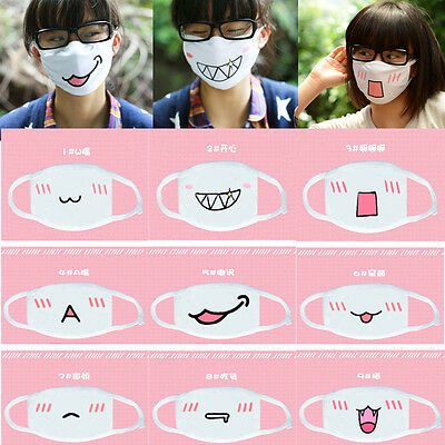 Hot 1PC Cute Anime Emotiction Mouth-muffle Kaomoji Anti-Dust Face Mask Kawaii w8