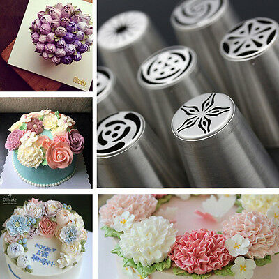 7 Model Russian Icing Piping Nozzles Cake Flower Decorating Pastry Mould Tool