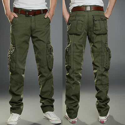 Military Men's Cotton Cargo Pants Combat Camouflage Camo Army ...