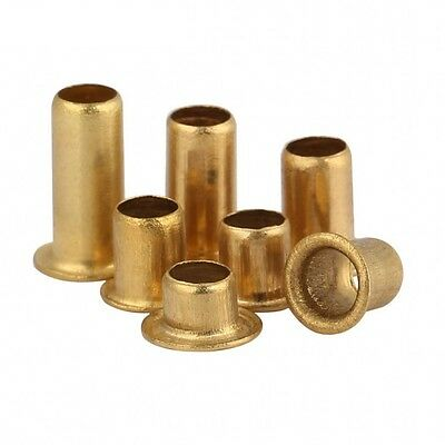 M0.9 M1.3 M1.5 M1.7 M2 Brass Vias Rivet Nuts Through Hole Rivets Hollow Grommets