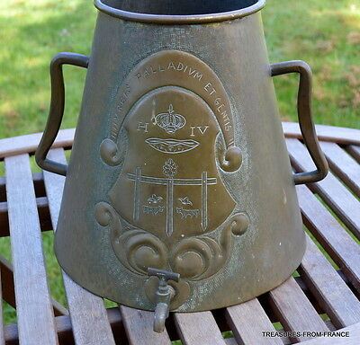 Souvenir French brass jug made during the 1930s in Pau in the South of France