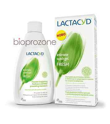 Lactacyd FRESH Intimate Wash Gel With Biological L-Lactic Acid Longlasting 200ml