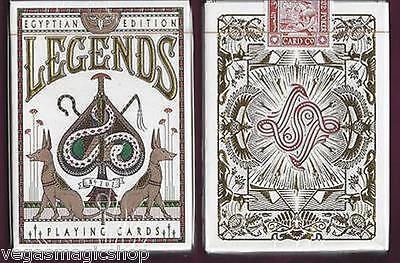 Egyptian Legends Red Deck Playing Cards Poker Size LPCC Custom Limited Sealed