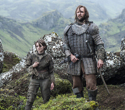 Maisie Williams and Rory McCann UNSIGNED photo - E416 - Game of Thrones