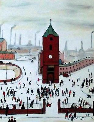 ORIGINAL Northern Art  OIL PAINTING by JIM GLENNIE The Clock Tower