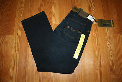 NWT Mens URBAN STAR JEANS Relaxed Fit Dark Rinse Wash Jeans Size 34 W 30 L