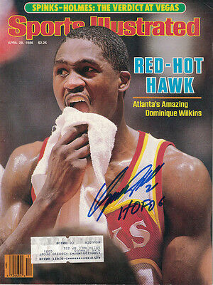 Dominique Wilkins Autographed Atlanta Hawks Sports Illustrated Magazine 4/28/96