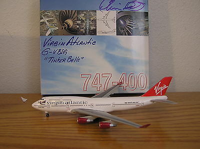 1:400 Virgin Atlantic Boeing 747-400 Tinker Bell Custom 1990's Colors
