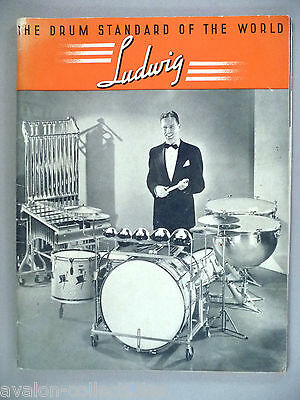 Ludwig Drum CATALOG - 1938 ~~ drums, drummers' instruments