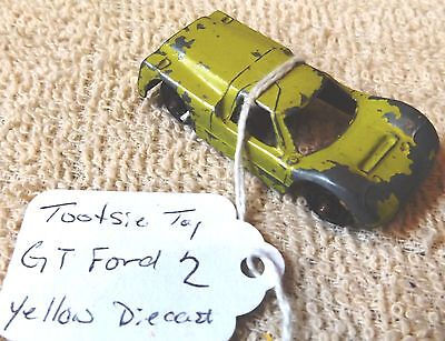 VINTAGE DIECAST--FORD GT 2 by TOOTSIE TOY-OUT OF 70's-NICE-GREAT PATINA!