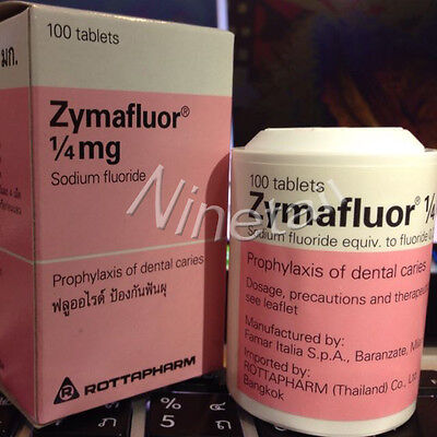 Zymafluor Sodium Fluoride tablets For Stonger Teeth Prevent decay in children
