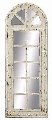 Rustic Vintage Distressed Aged Wood Mirror Wall Panel Shabby Chic Wall Decor NEW