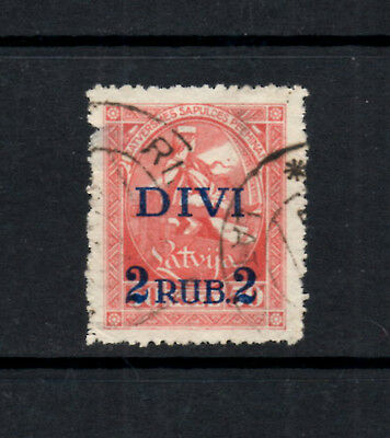 (Ref-8381) Latvia 1920 1st.Constituent Assembly  2r. on 50k. Red   SG.73  Used