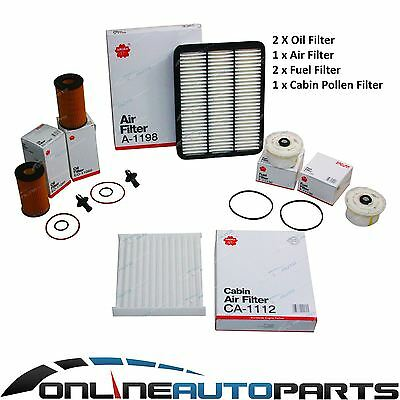 Air Oil Fuel Cabin Filter Service Kit Landcruiser 78 79 Series V8 1VDFTV 4.5L